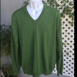 EXPRESS Green Italian Merino Wool Sweater Sz XL